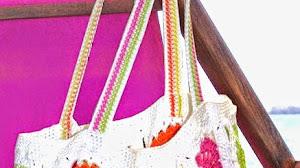Bolsa para la playa al crochet