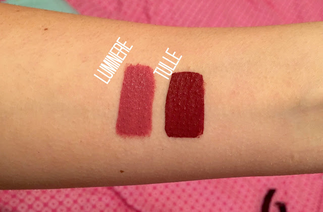 See my Colourpop Lumiere and Tulle lipstick swatches here