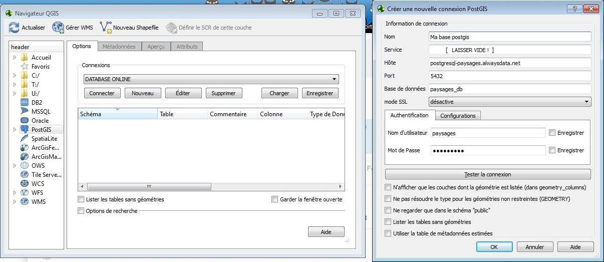 Postgis database: free online hosting