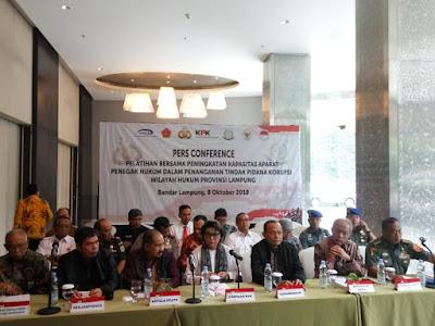 KPK Gelar Pelatihan Bersama Penegak Hukum di Lampung