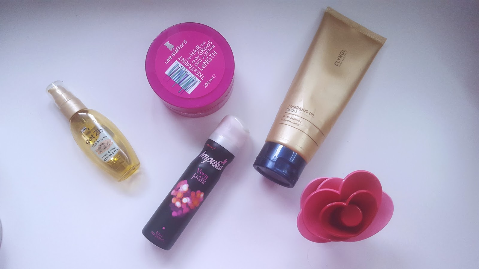 Schwarzkopf Got2B Oilicious Impulse Very Pink Clynol Luminious Oil Justin Bieber Perfume Lee Stafford Growth Mask