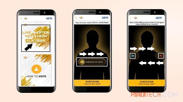 Cara Voting Rising Star Indonesia via Aplikasi di HP