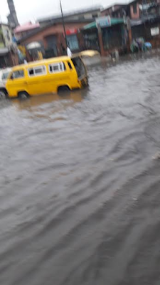 Photos: Parts of Lagos flooded following heavy downpour