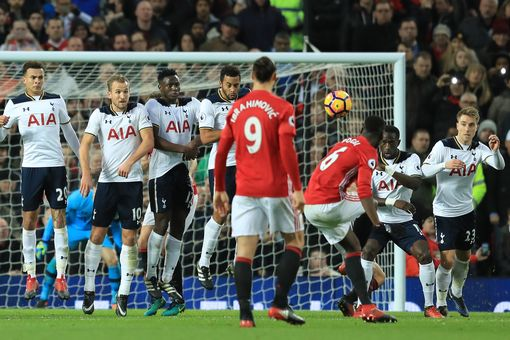 Here's the moment Pogba rattled the woodwork