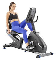 Nautilus R616 Recumbent Bike MY18 2018, with 25 ECB resistance levels, 29 programs, 4 user profiles, Bluetooth, high-speed high-inertia perimeter-weighted flywheel, low step through frame design, sliding seat rail system