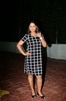 Shilpa Chakravarthy in Dark blue short tight dress At Srivalli Movie Pre Release Event ~  Exclusive Celebrities Galleries 057.JPG