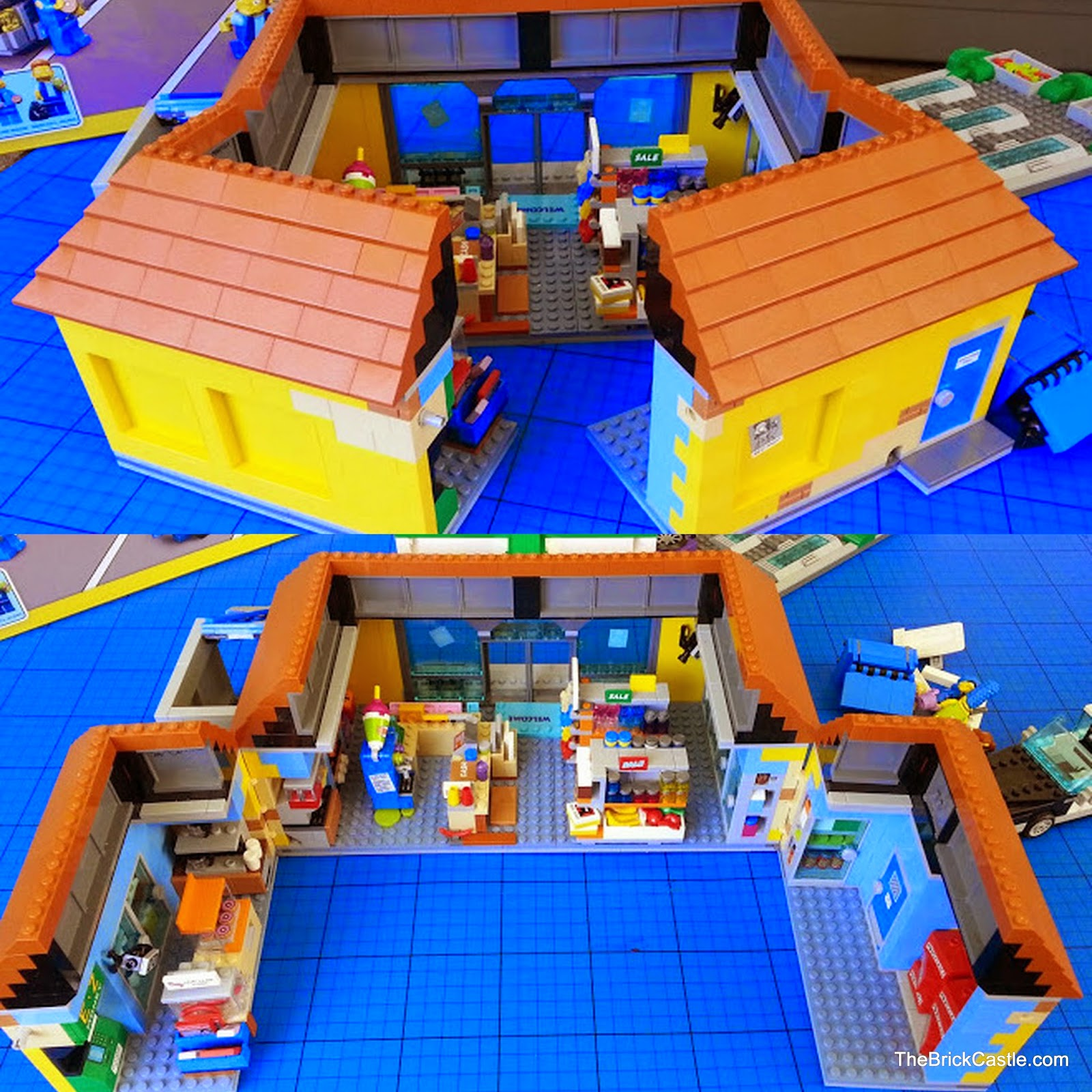 71016 LEGO review Simpson's Kwik-E-Mart how opens up to play