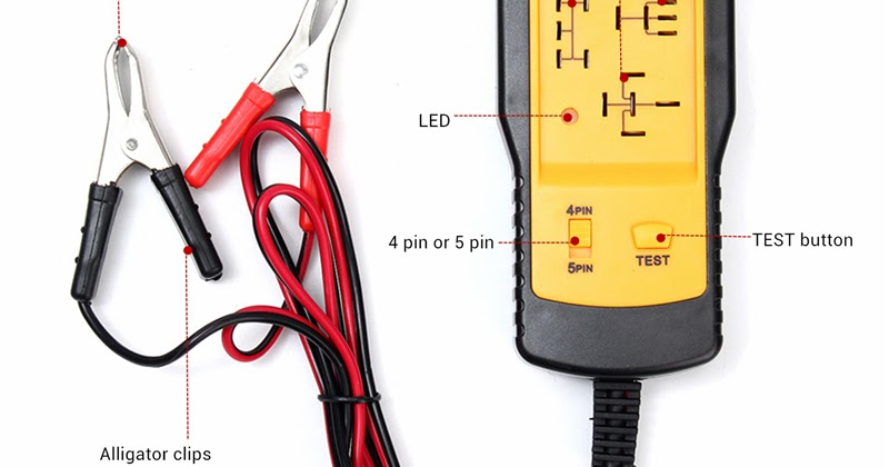 12V Electronic Automotive Car Auto Battery checker Relay Tester