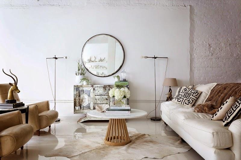 Noir blanc un style for Canape style loft
