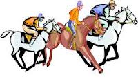 Seu cavalo de corrida ligou
