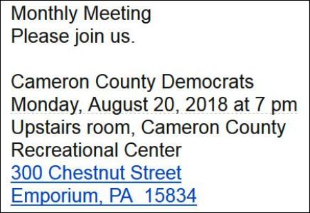 8-20 Cameron County Democrats Meet