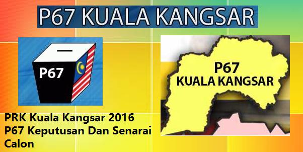 keputusan PRK Kuala Kangsar 2016 P67