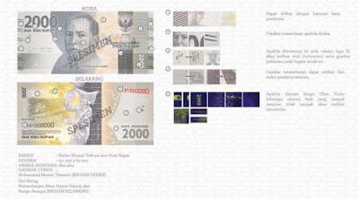 Uang rupiah baru pecahan Rp 2.000 kertas