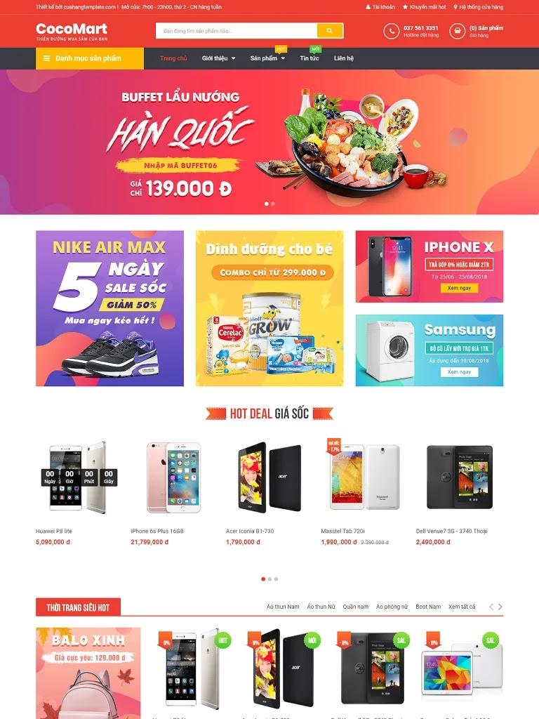 Template blogspot bán hàng CocoMart chuẩn seo - Ảnh 1