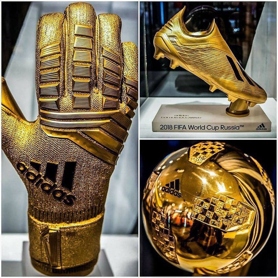 'Adidas' 2018 World Cup Golden Ball, Boot and Glove ...