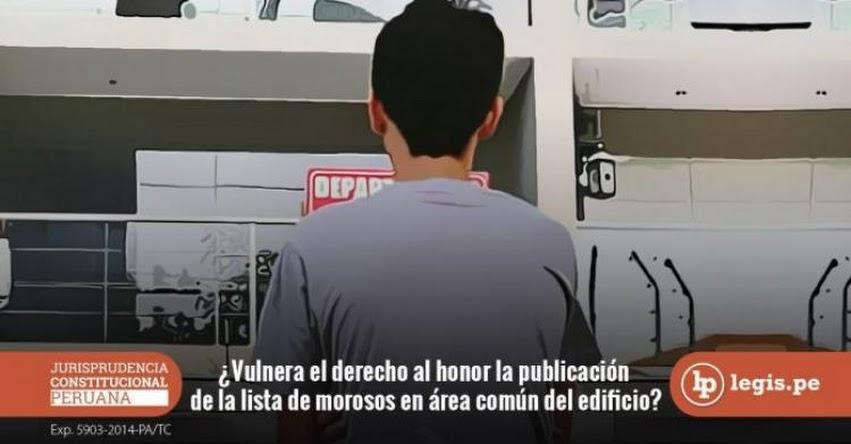 Sepa si la publicación de la lista de morosos en área común del edificio vulnera el derecho al honor