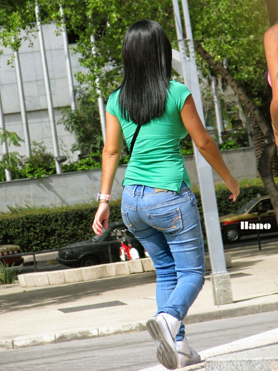 Sexy Girls On The Street, Girls In Jeans, Spandex And -8200