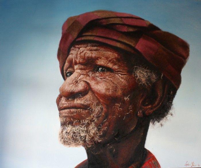 Южноафриканский художник. Loyiso Mkize