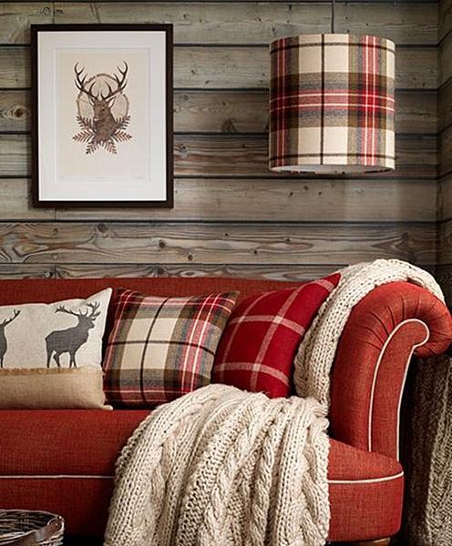 inspiracje w moim mieszkaniu szkocka krata we wn trzach plaid indoors. Black Bedroom Furniture Sets. Home Design Ideas