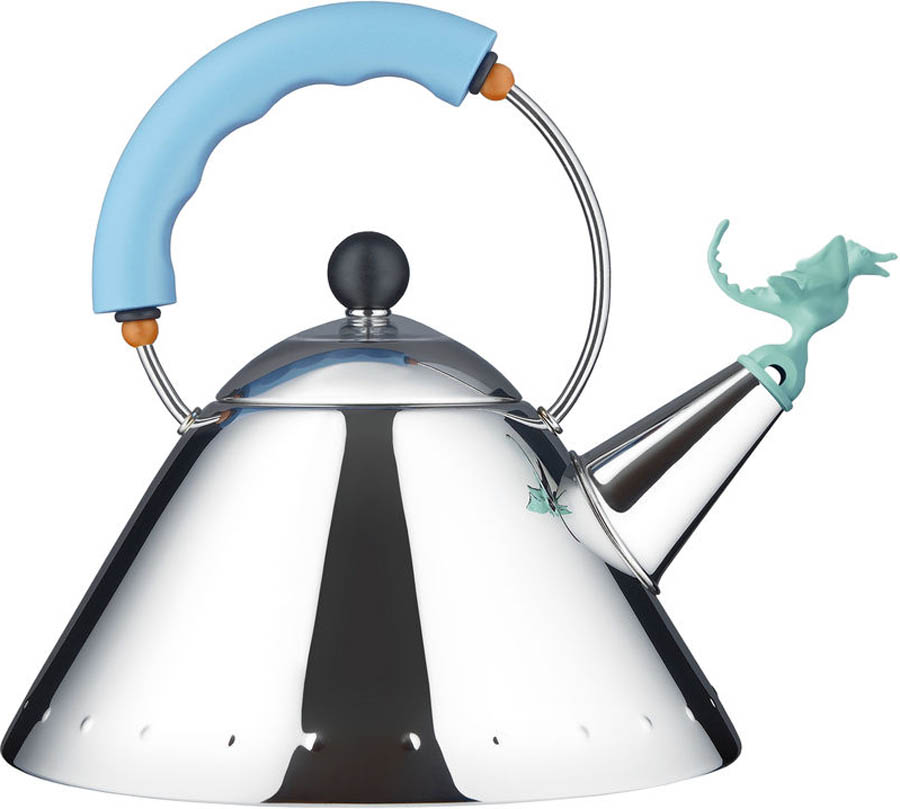 Kettle With Tea Rex Whistle By Alessi
