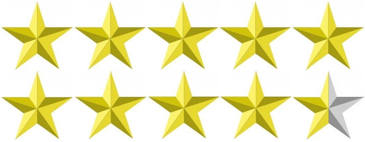 Image result for 9.5/10 stars