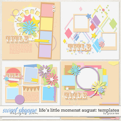 Life's Little Moments August: Templates