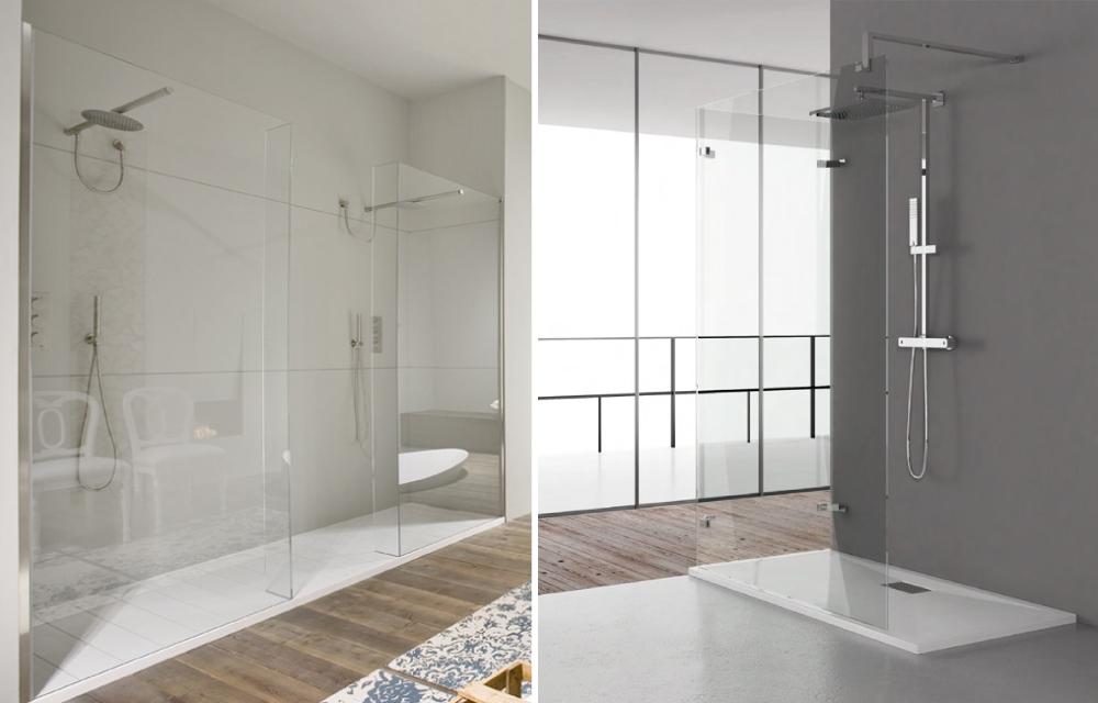 Piatti doccia a filo pavimento per bagni open space dettagli home decor - Doccia a filo pavimento ...