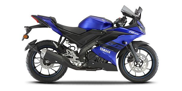 All New 2018 Yamaha  R15 V3 blue side view