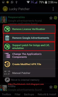 android lucky patcher ke options