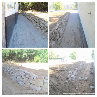 Here is a Natural Stone Retaining Wall - Location Crown Candy area StLouis MO