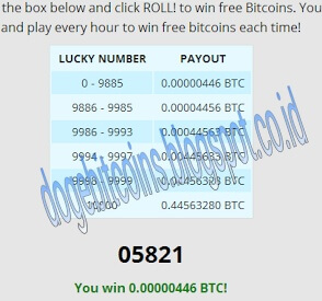 Roll free bitcoin tahun 2013
