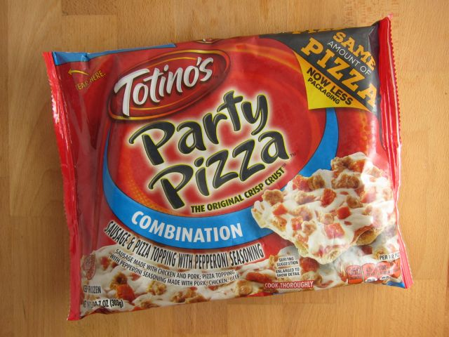 frozen friday totino's  combination rectangle party