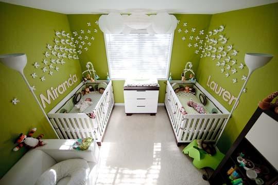 Du vert pour la chambre de bébé!