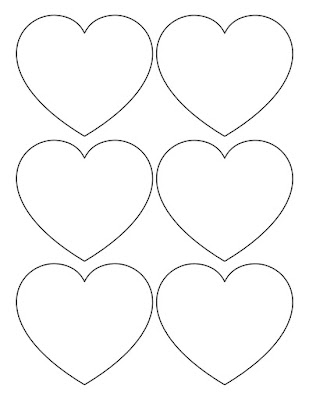 6up zentangle heart template