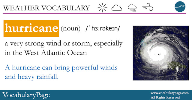 Weather Vocabulary, Hurricane