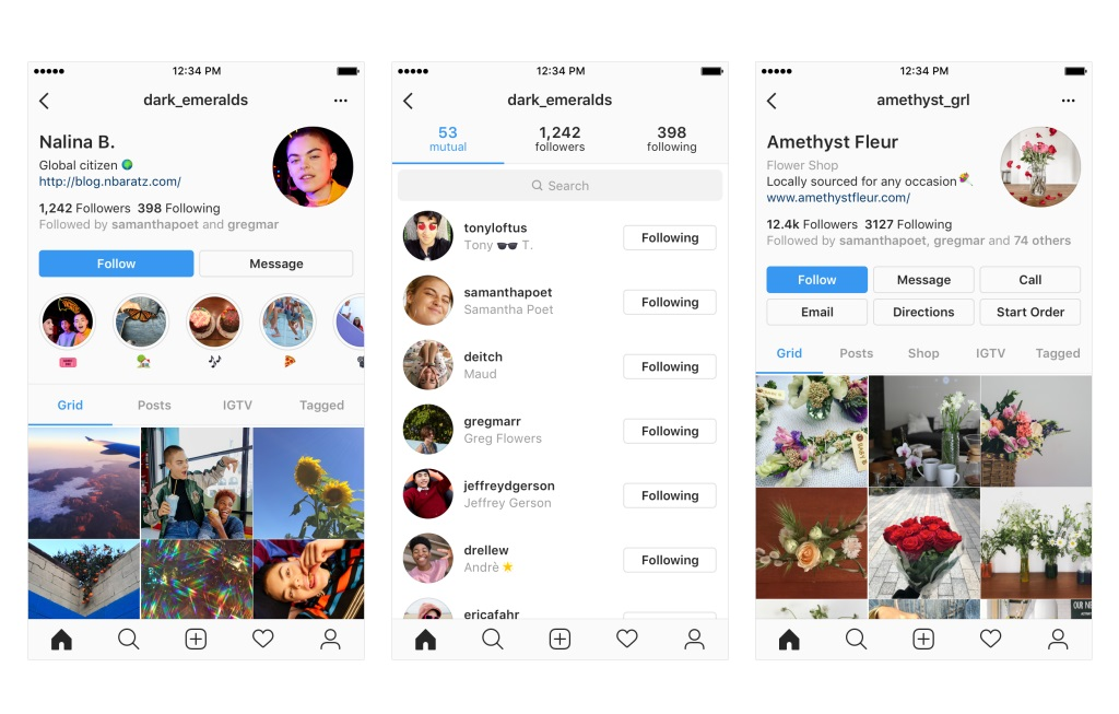 Instagram is Testing New Profile Design, an Examples of potential changes to users Instagram profile
