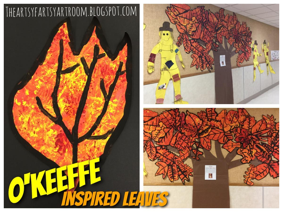 The Artsy Fartsy Art Room O Keeffe Fall Leaves