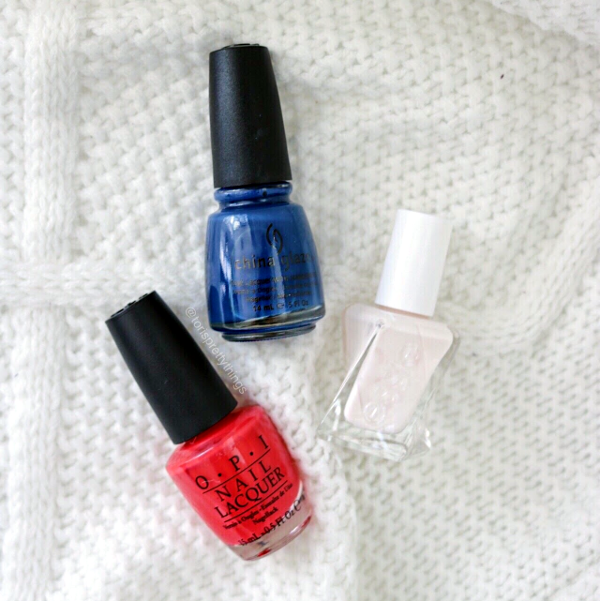 China Glaze First Mate - OPI Red Lights Ahead...Where? - Essie Pre Show Jitters - Tori's Pretty Things Blog