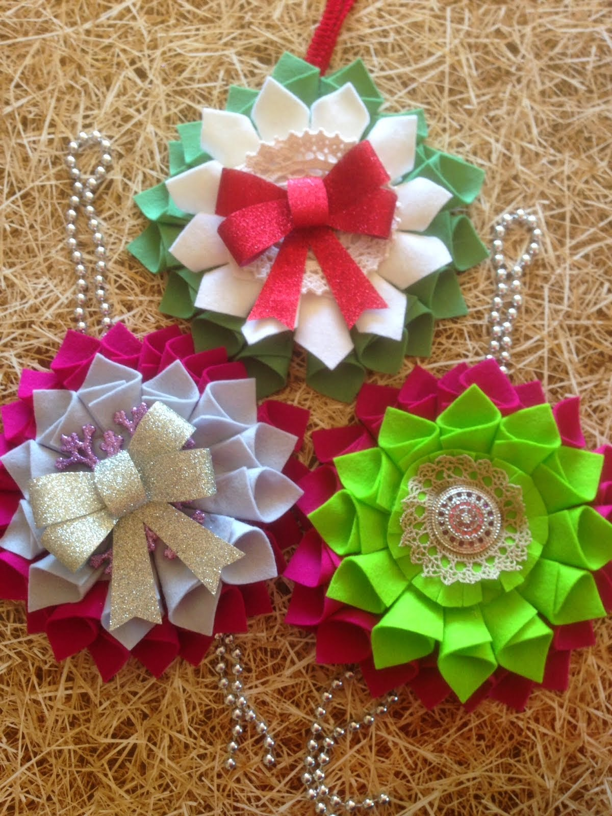 Christmas felt wreath