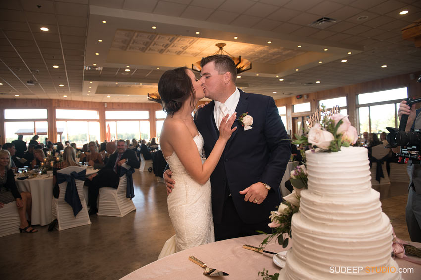 Cake Cutting Solitude Links Port Huron Wedding SudeepStudio.com Ann Arbor Wedding Photographer