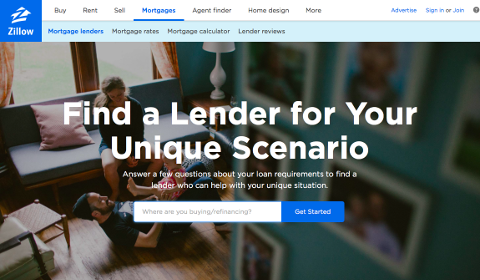 Find a lender on Zillow