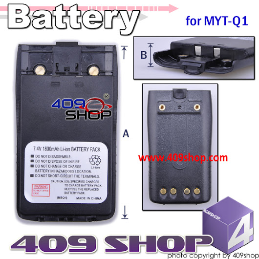 7.4V x 7.4V 1800 mAh LI-ION Battery for MYT MYTQ1