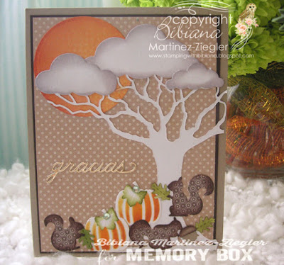 fall squirrel scene card front