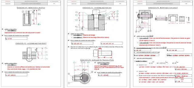 Télécharger exercices Cotation fonctionnelle avec la corrigé - Cotation fonctionnelle exercice - Cours cotation de fonctionnelle - La chaîne de cotation fonctionnelle - la cote condition - le jeu max et le jeu mini cotation fonctionnelle