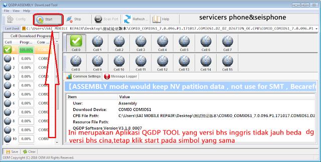 Cara Flashing Evercoss M50 Via QGDP (Update) | Servicers phone