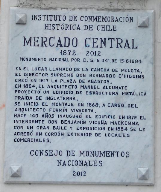 Mercado Central Santiago Chile