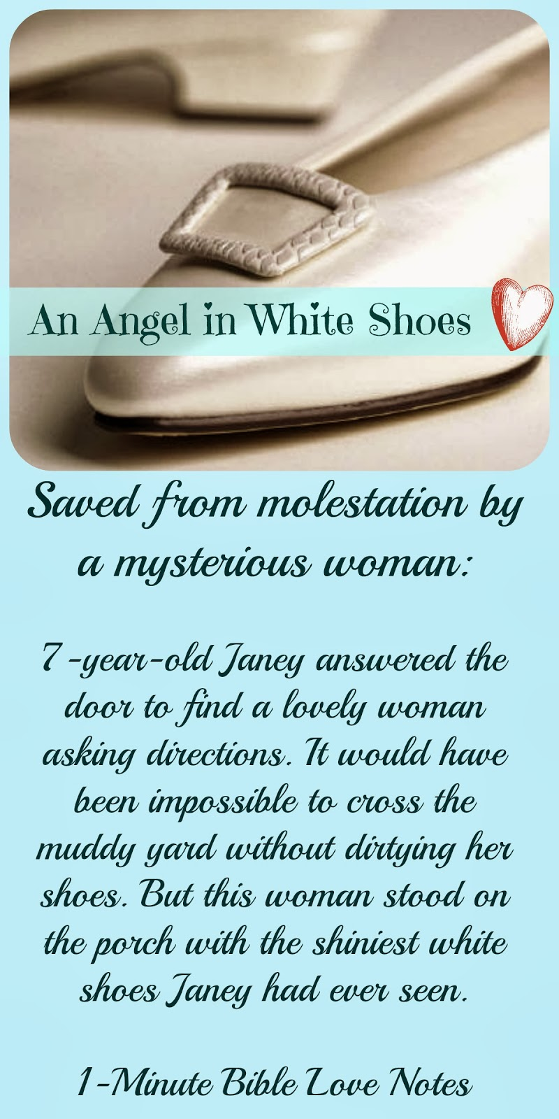 Angel, Saved a child, angel in white shoes,