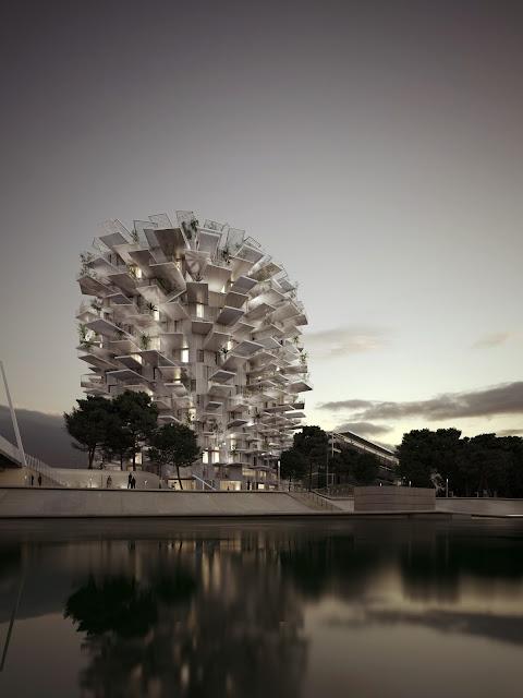 L'Arbre Blanc, ArbreBlanc, Arbol Blanco , Sou Fujimoto, Ciprés group, Cipres france, Fachada Tecnológica, Envolvente Arquitectónica
