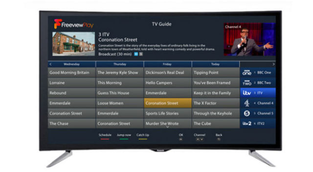 A picture showing the Freeview Play Electronic Programme Guide