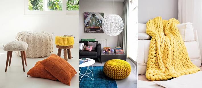 Decoração para sala simples e barata usando tricô